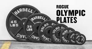 Anilha Olímpica de Ferro Rogue- Cor Preto - Peso 5lb (2,27kg) - Par