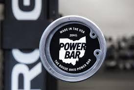 Barra Olímpica Masculina ROGUE POWER BAR 29mm - Black Zinc / Bright Zinc - 20kg - IPF