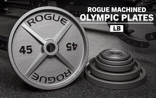 Anilha ROGUE Olímpica de Ferro USINADA - Peso: LB -  Par