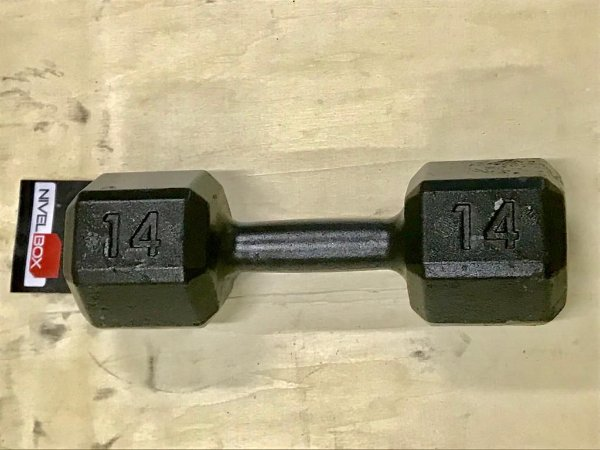 Dumbbell (Halter) Sextavado Ferro - Pintado - Unidade
