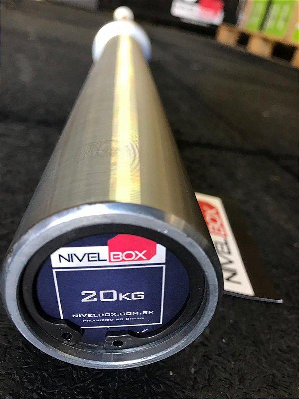 Barra NIVELBOX Masculina 28mm - 20kg - Zincada Preto