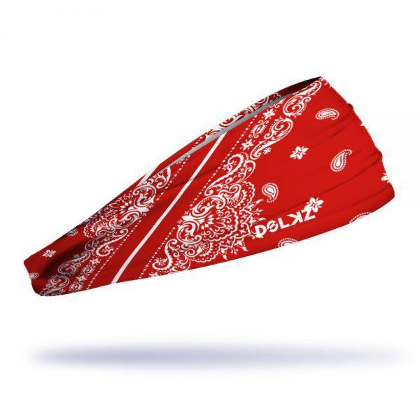 Headband Slim Dolkz - Red Paisley