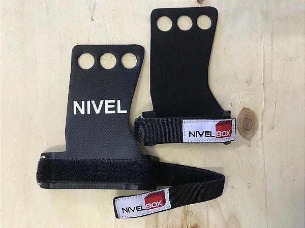 Hand Grip NIVELBOX V2- Fibra Carbono - 3 furos