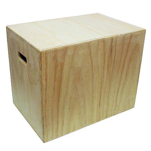 Caixa de Salto - 3 em 1 Madeira - Média - 45C x 35L x 40 A
