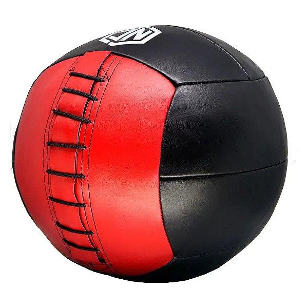 Bola Medball NC 16lb - Preto com Vermelho