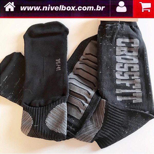 Meião Crossfit - Preto Cinza