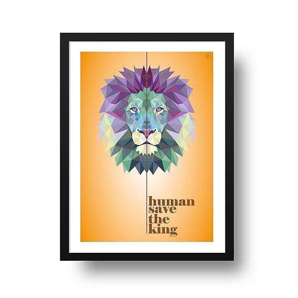 Poster Leão - Human Save The King
