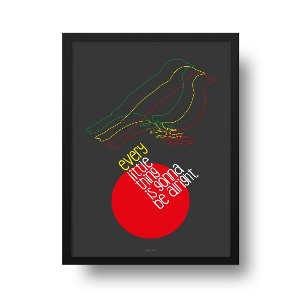 Poster Bob Marley - Three Little Birds