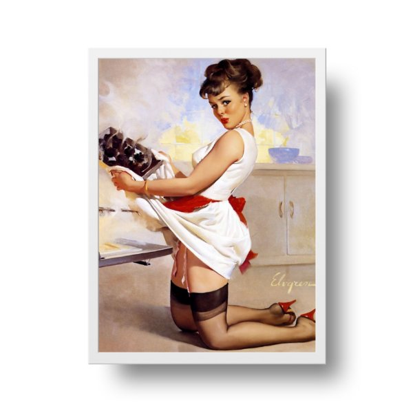 Poster Pin Up - Honey dinners ready