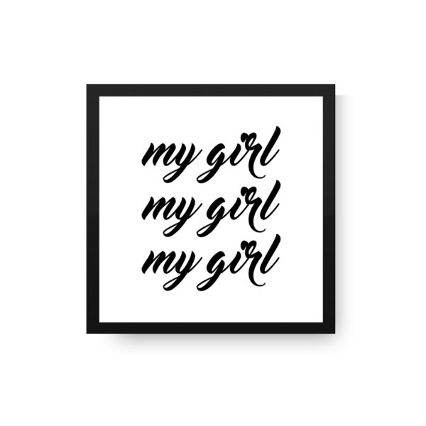 Quadrinho Decorativo infantil - My girl