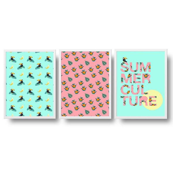 Conjunto de Quadros Decorativos - Summer Culture
