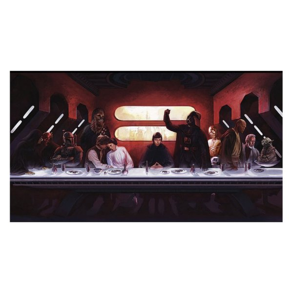 Poster Personalizado - Santa Ceia Star Wars