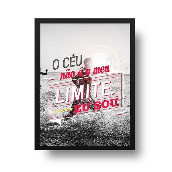Ponta de Estoque - Poster Triathlon - O céu Não é o meu Limite. Eu Sou - 1 unidade disponível