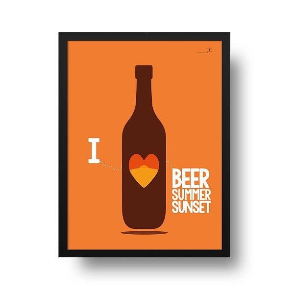 Ponta de Estoque - Poster Cerveja - I Love Beer - 1 unidade disponível
