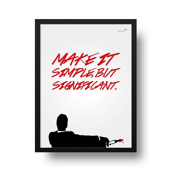 Ponta de Estoque - Poster Mad Men - 1 unidade disponível