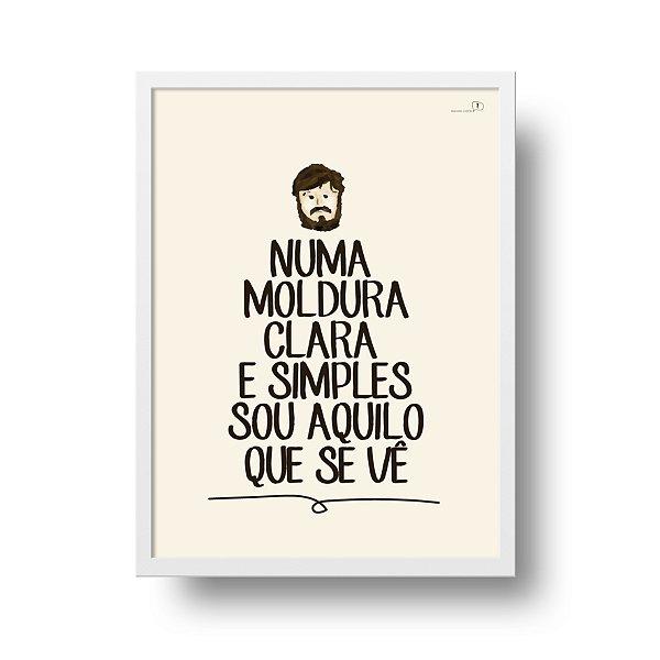 Ponta de Estoque - Poster Los Hermanos - Numa Moldura Clara e Simples - 1 unidade disponível