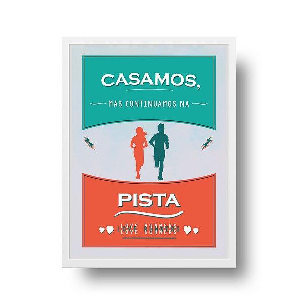 Ponta de Estoque - Poster Casamento - Corrida - 1 unidade disponível