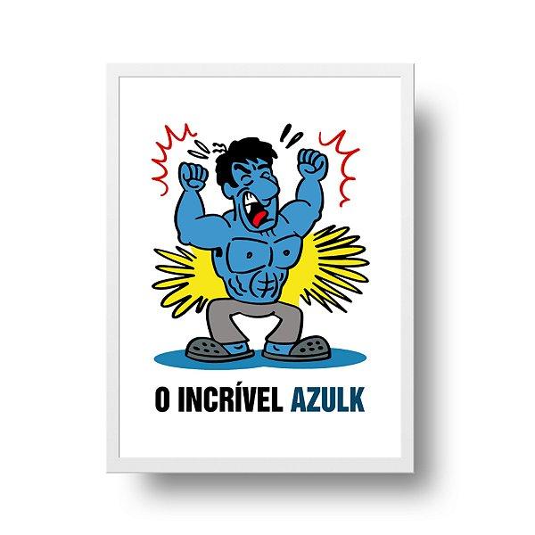 Poster Humor Azul - O Incrível Azulk - tamanho 20 x 25