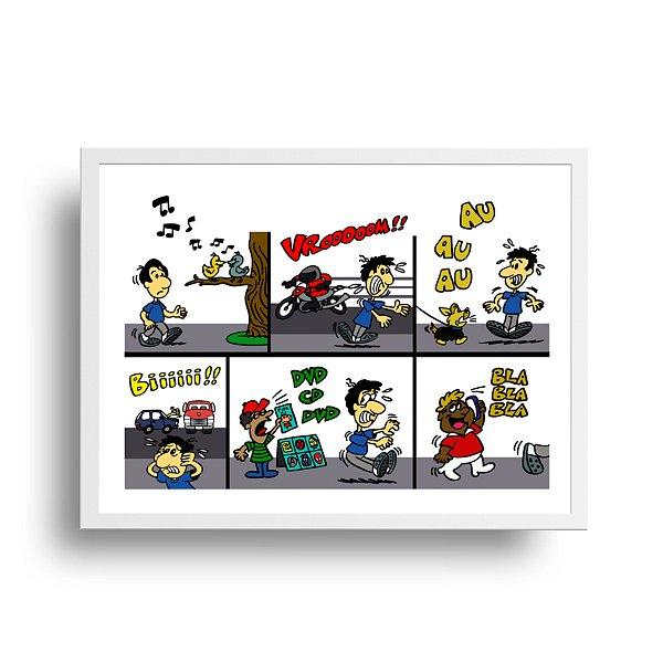 Poster Humor Azul - Rua - tamanho 20 x 25