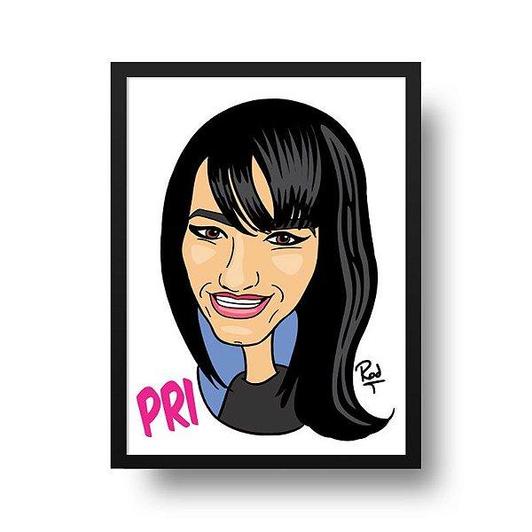 Caricatura Feminina - Compre e Envie Sua Foto Para personalize@deposter.com.br