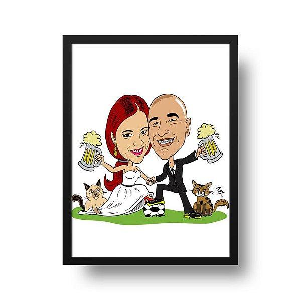 Caricatura Casal - Compre e Envie Sua Foto Para personalize@deposter.com.br