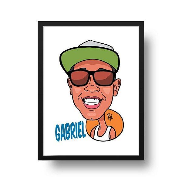 Caricatura Masculina - Compre e Envie Sua Foto Para personalize@deposter.com.br