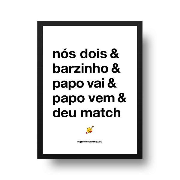 Poster Namorados - Nós dois & barzinho