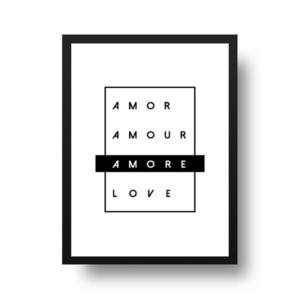 Poster Namorados - Amor