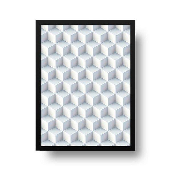Poster Geométrico 3D - Cubo de gelo