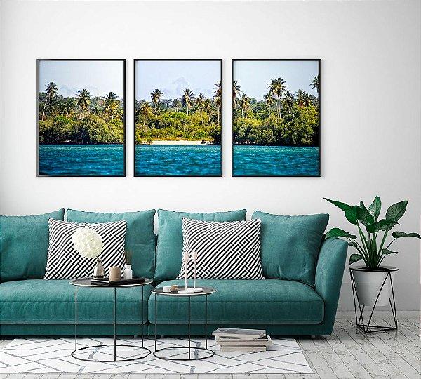 Conjunto de Posters Fotografia Ilha de Itaparica 50x70 cm Cada - Molduras Pretas