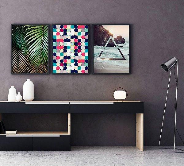 Conjunto de Quadros Decorativos - Natureza Moderna
