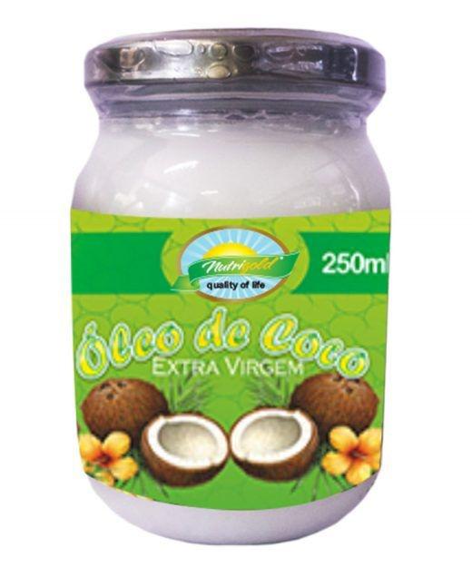 ÓLEO DE COCO EXTRA VIRGEM LÍQUIDO - VIDRO 250ML