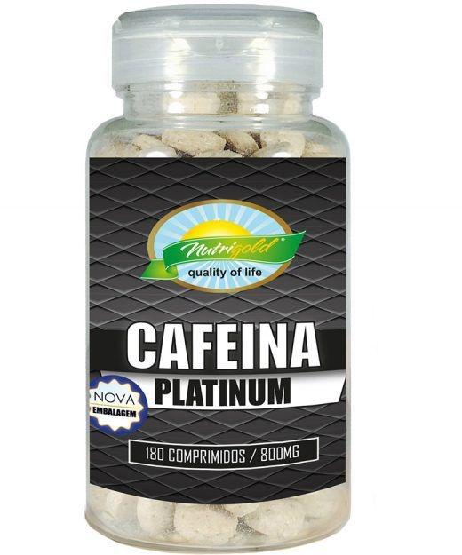 CAFEÍNA PLATINUM - POTE 180 COMPRIMIDOS (800MG)
