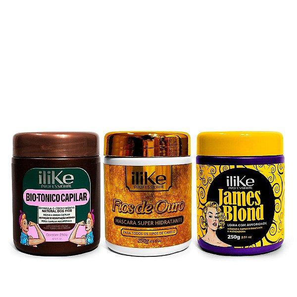 iLike Professional Cronograma Capilar - Kit Loira de Autoridade - 03 Produtos