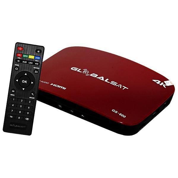 RECEPTOR GLOBALSAT GS 600 (IPTV) - ANDROID 6.0.1