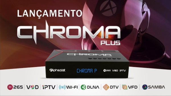 RECEPTOR ALPHASAT CHROMA PLUS / IPTV / WI-FI / VOD - ACM