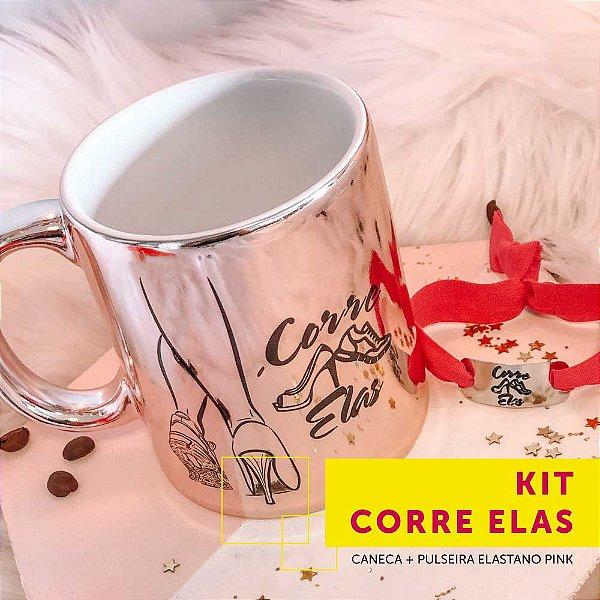 Kit CORRE ELAS | caneca + pulseira elastano