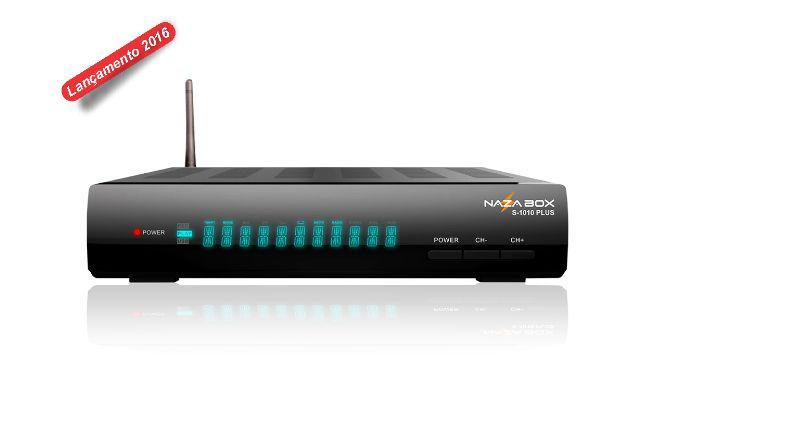 RECEPTOR NAZA BOX S1010 PLUS  com ACM, H265 (35% maior velocidade de Internet e Videos) e Roteador WIFI Embutido