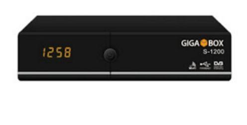 Receptor GigaBox S-1200 HD - Wi-Fi - F.T.A (PRONTO PARA CODIFICAÇÃO ACM / H265)