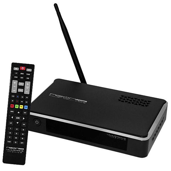 RECEPTOR FTA NEONSAT ULTIMATE TITANIUM HD IPTV VOD
