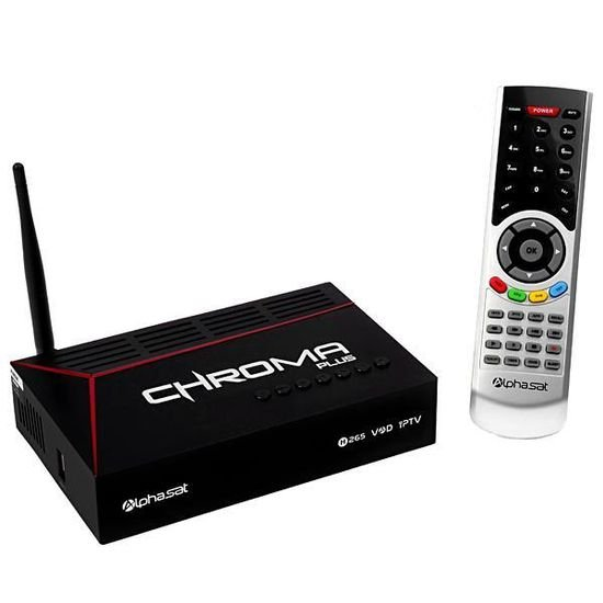 Receptor Digital Alphasat Chroma Plus ACM H265 Full HD