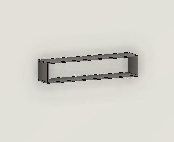 Nicho Decorativo Retangular 120x25x25 cm Com Suporte para fixação - Em MDF - TreeMobili
