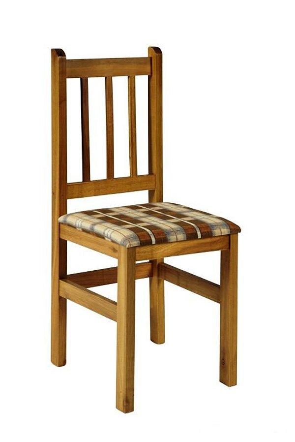 Cadeira Estofada Madeira Maciça Cor Padrão Cerejeira - HB20