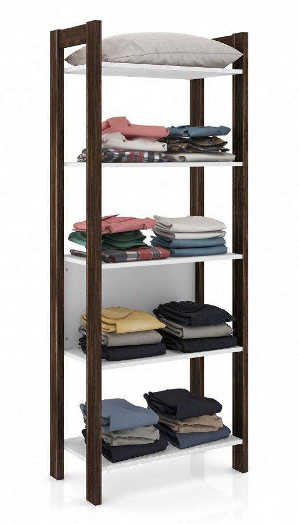 Armário decorativo alto multiuso com 5 prateleiras - AZ1005