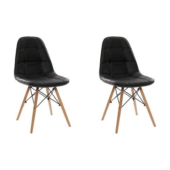 Kit com 2 unidades da Cadeira Charles Eames Eiffel Botonê - Estofada