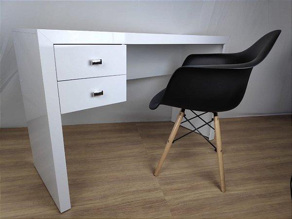 Escrivaninha com 2 gavetas 120x46 TreeMobili - em MDF Laca - Branco Neve