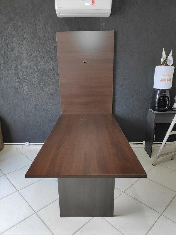 Mesa de Reuniões 200x100 com Painel para Televisão -  Em MDF - TreeMobili