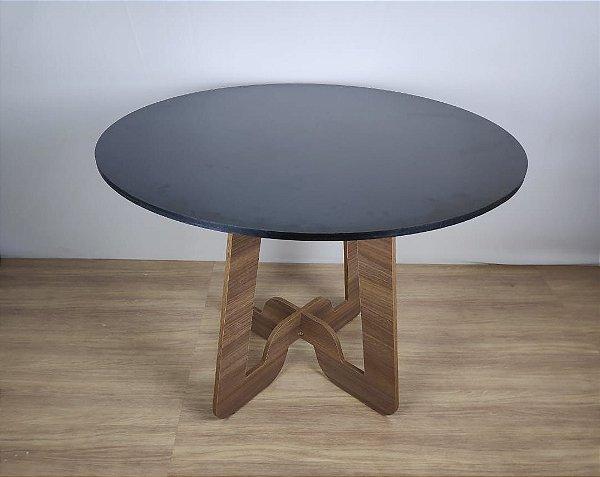 Mesa de Jantar com Tampo Circular 100 cm - Em MDF - TreeMobili
