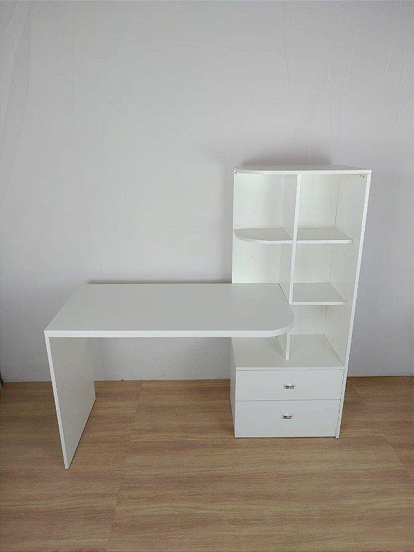 Mesa para computador com armário com 2 gavetas embutido - Em MDF - TreeMobili