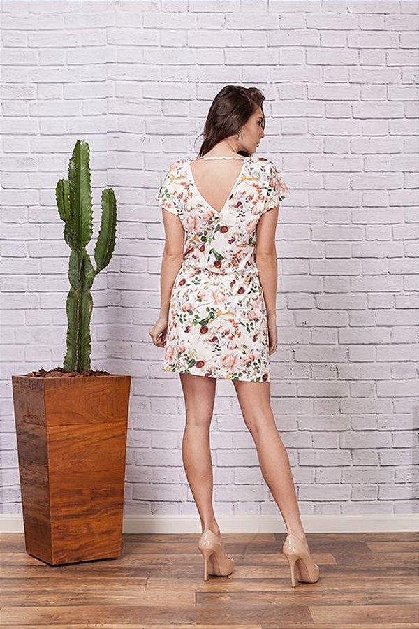 Vestido Floral Decote V